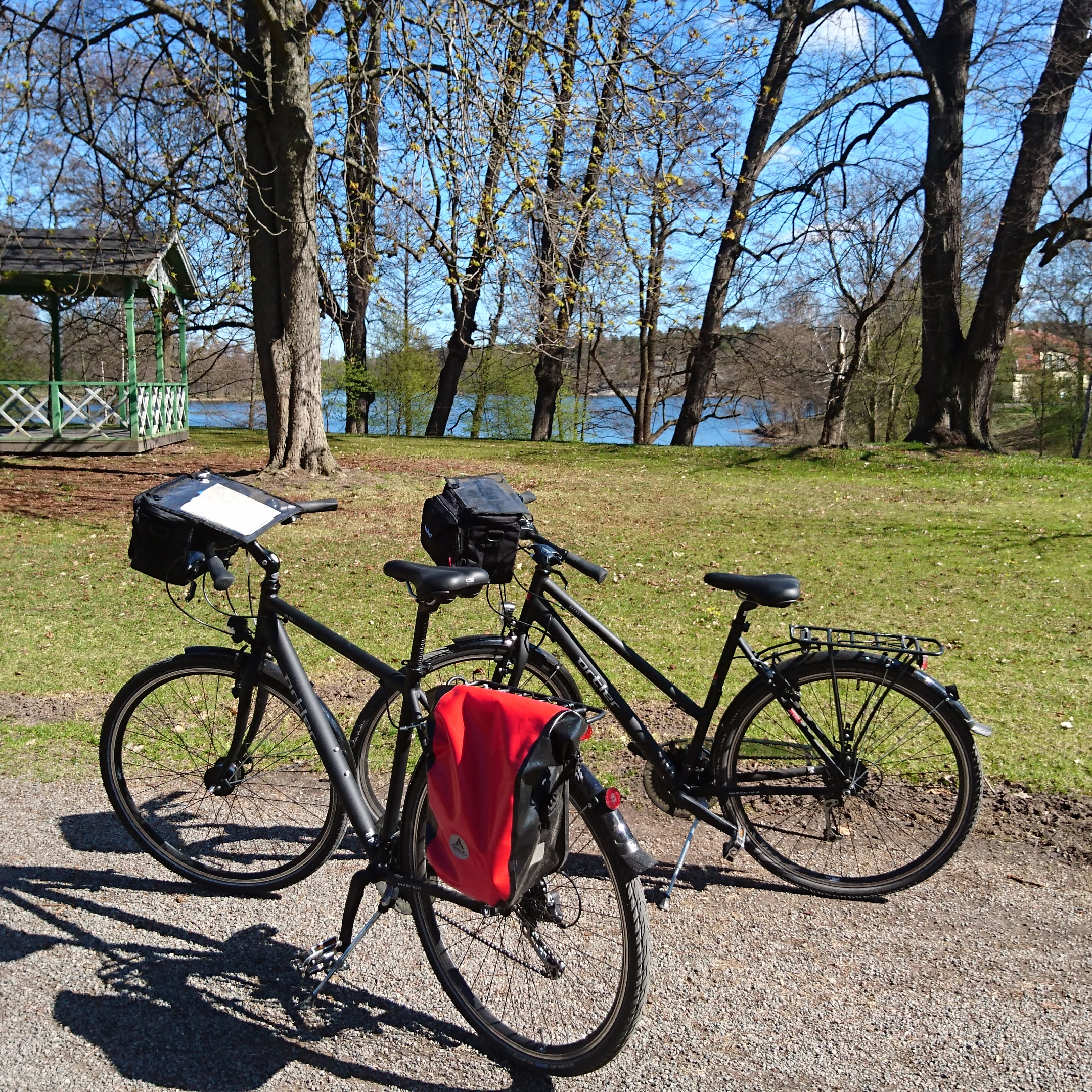 Self guided bike tour Stockholm Djurgarden Sverige