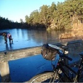 Self guided bike tour Stockholm Nacka nature reserve Sverige